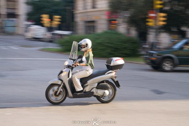 Fotografiando una moto en movimiento: paneo.