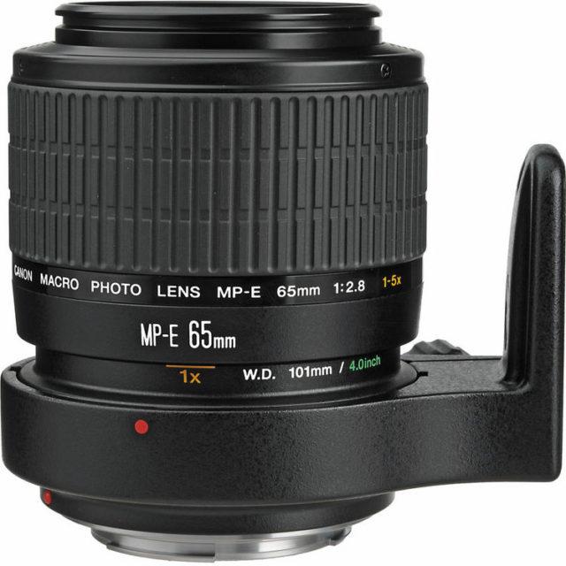 Objetivo Canon MP-E 65 mm f/2.8 con zoom de hasta 5:1.