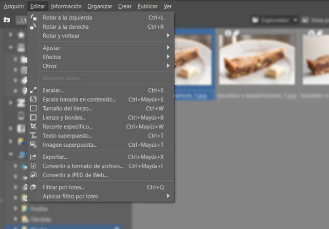 Tanto si se trata de un texto como de una imagen, la marca de agua la insertaremos desde Menú > Editar.