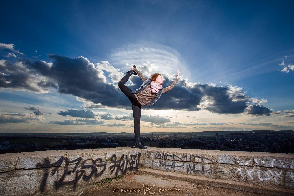 Retrato de una gimnasta.