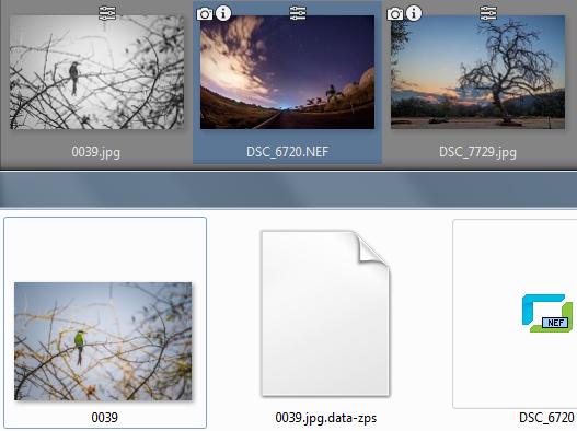 Retoques no destructivos: Comparación de la vista en ZPS y en Windows.