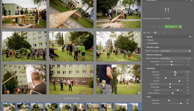 Simplifica la edición de fotografías. Con la ayuda de la edición por lotes en el módulo Desarrollar