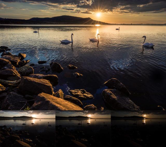 6 consejos básicos para hacer fotografías del agua: La imagen resultante se consiguió combinando a mano tres fotografías.