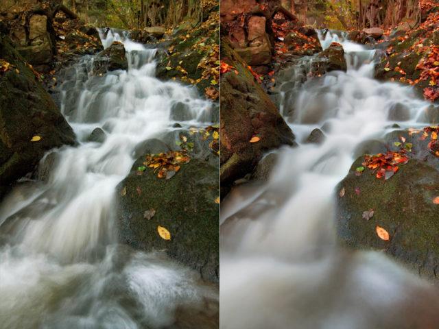 Cómo fotografiar cosas en movimiento: Tiempos de exposición diferentes para fotografiar agua en movimiento.