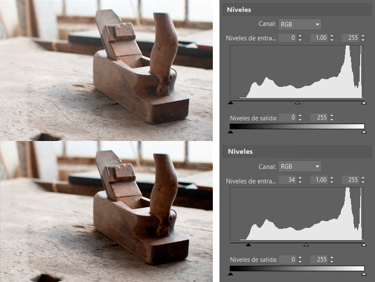 Controla el espectro de color de las fotos con ayuda de los niveles: La blandura excesiva es algo que no sienta bien en algunas fotos.