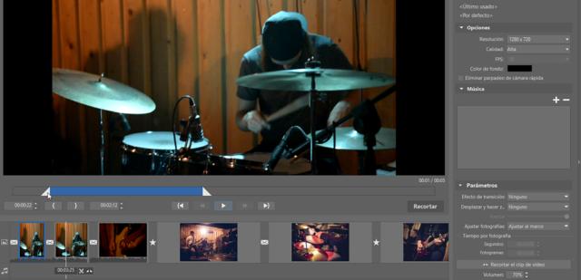 La edición de vídeos: Ajusta la longitud de cada clip de video.
