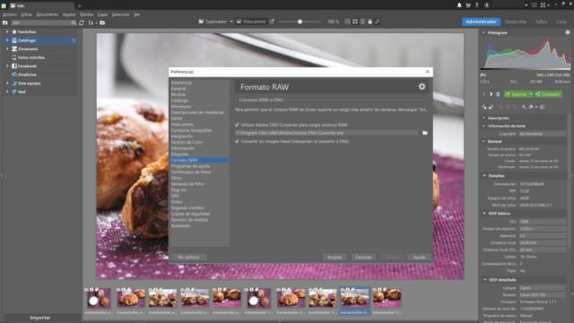 Cómo integrar el convertidor DNG en Zoner Photo Studio