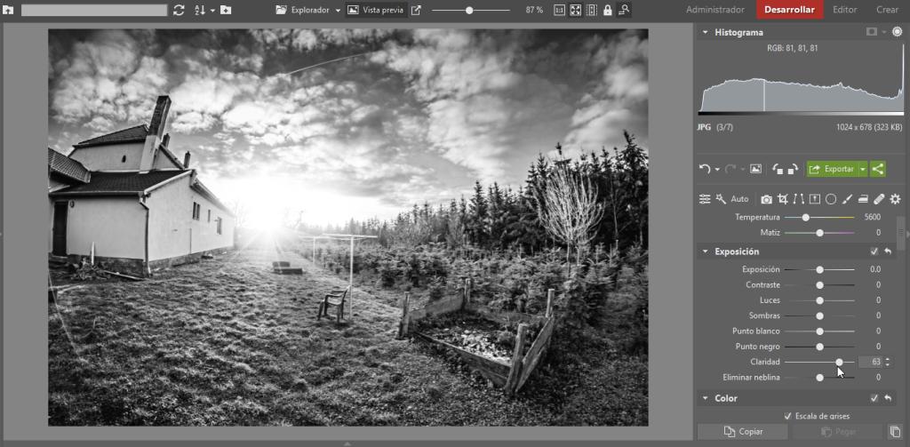 Crea tus propias fotos en blanco y negro, final