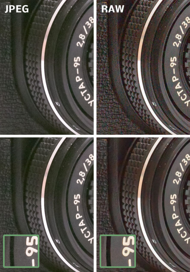 Qué tiene de especial el formato RAW: Los resultados al retocar el brillo en JPEG a la izquierda y en RAW a la derecha.
